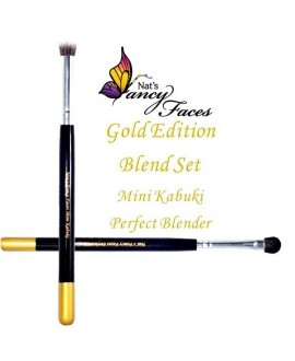 Set de Pinceau Mini Kabuki & Perfect Blender - Nat\'s Gold Edition