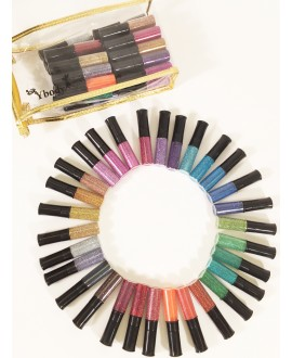 Set de 30 couleurs de paillettes