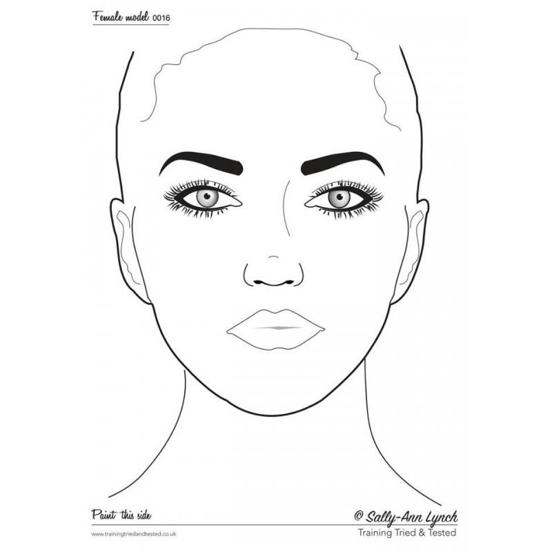 Plastifiziert Uebungsblatt A4 - Frau