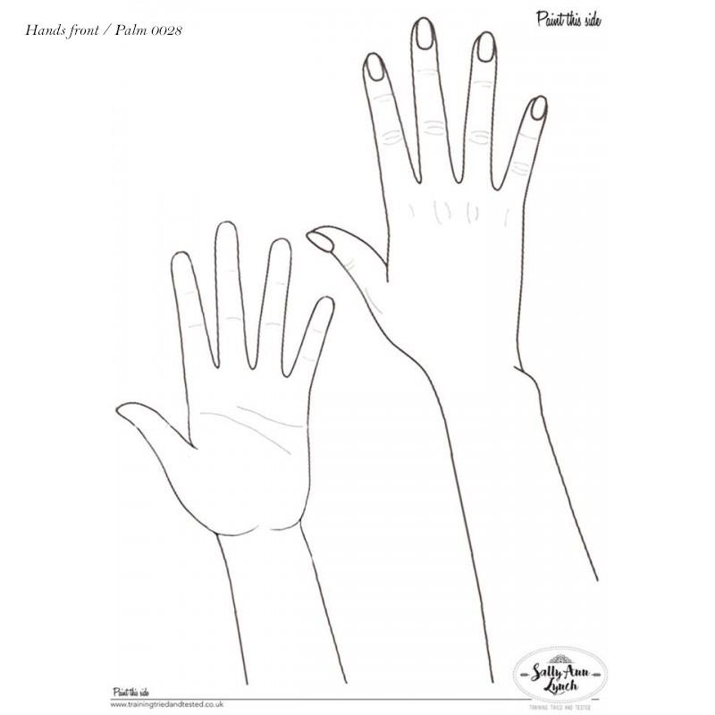 Plastifiziert Uebungsblatt A3 - Hände