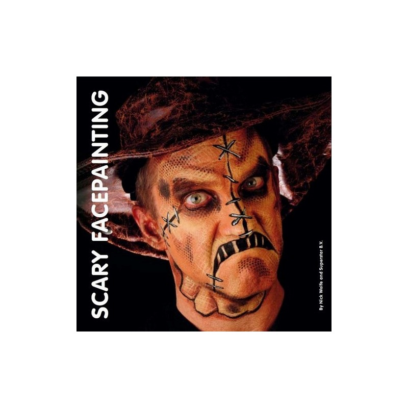 Scary face paining