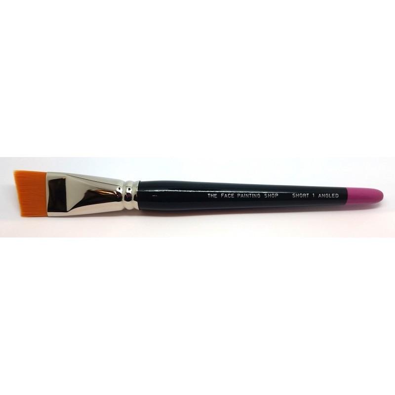 Pinceau biseauté court 1 inch - The Face Painting Shop