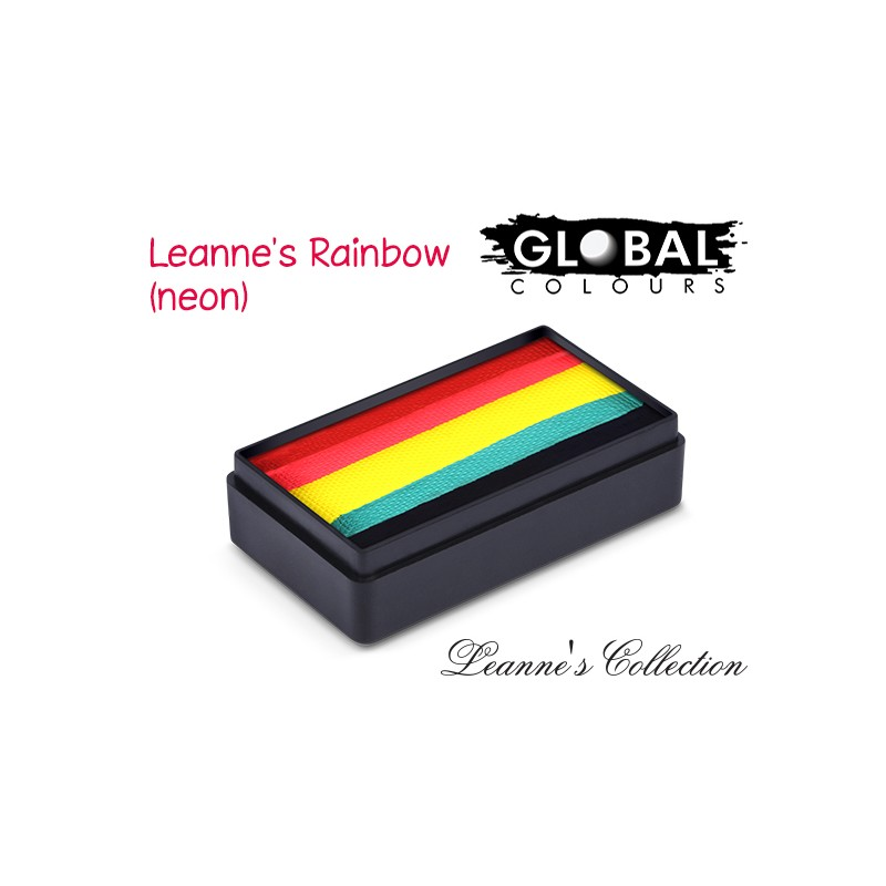 Global Leanne\'s Rainbow Neon Fun Strokes 30g