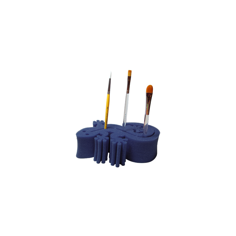 Porte pinceaux gecko bleu