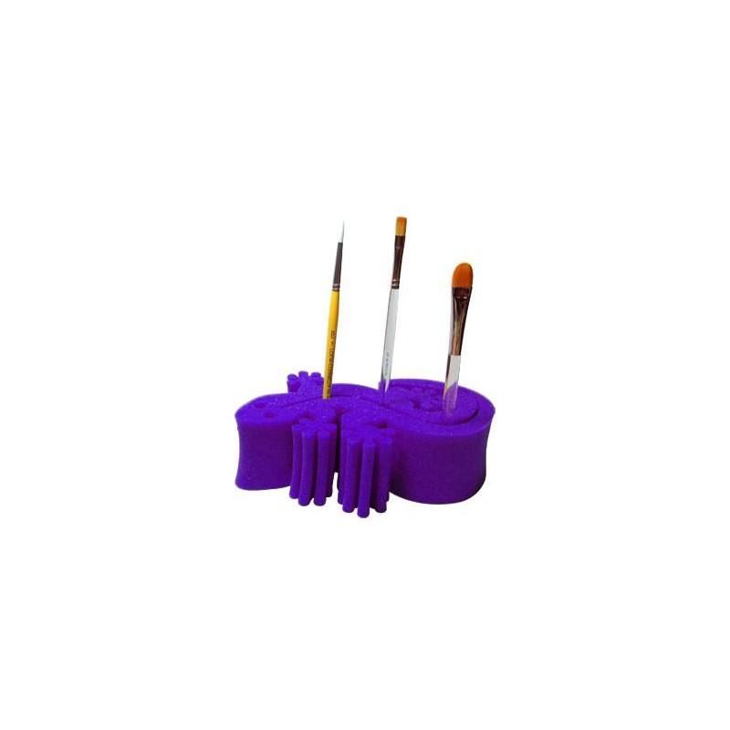 Porte pinceaux gecko violet