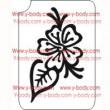 110100 Blume Henna-Stil