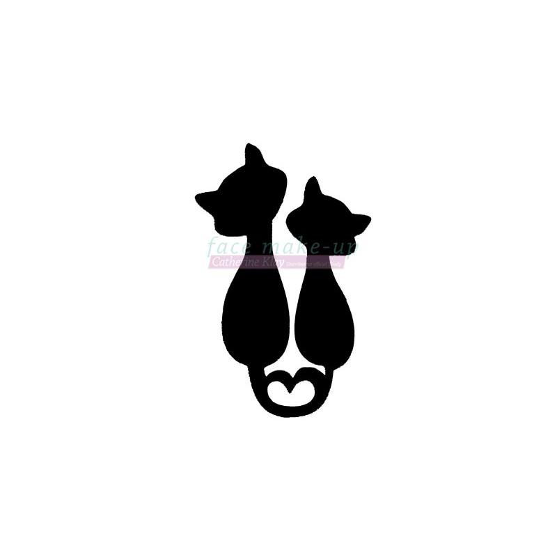 Chats amoureux pochoir autocollant pour tatouages éphémères