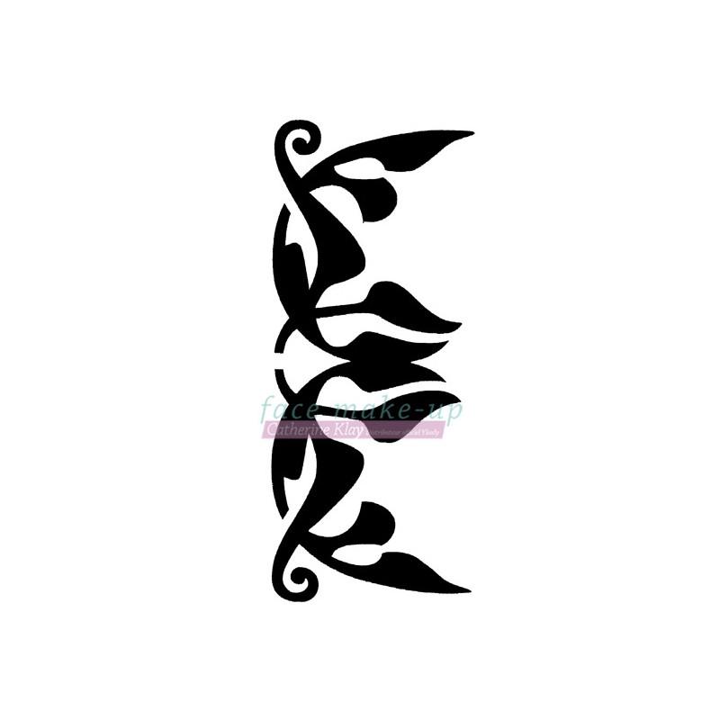 Selbstklebende Schablone für temporäre Tattoos - Blume