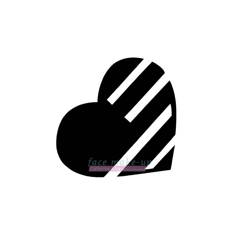 36601 Coeur à rayures
