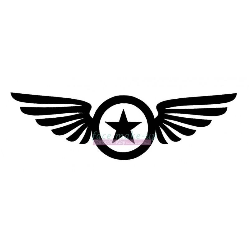 55101 Stern mit Flügeln