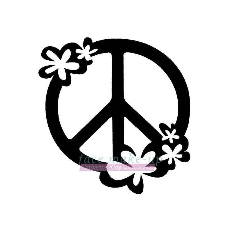 55001 Peace mit Blumen
