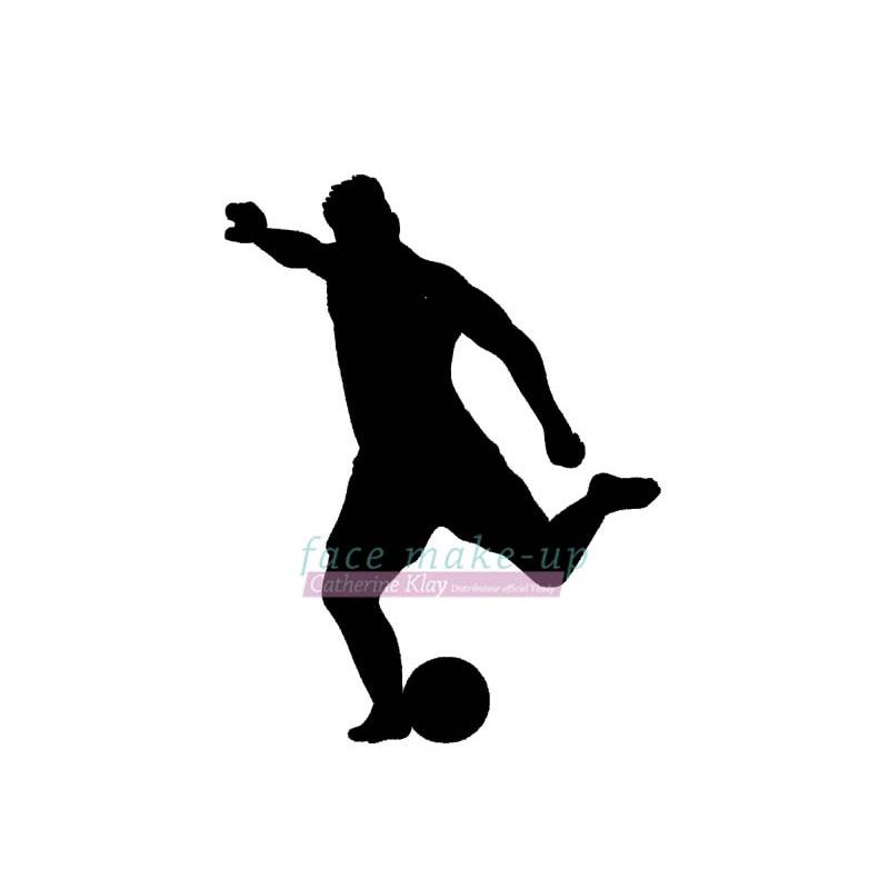 Fussballspieler Schablone für temporäre Tattoos
