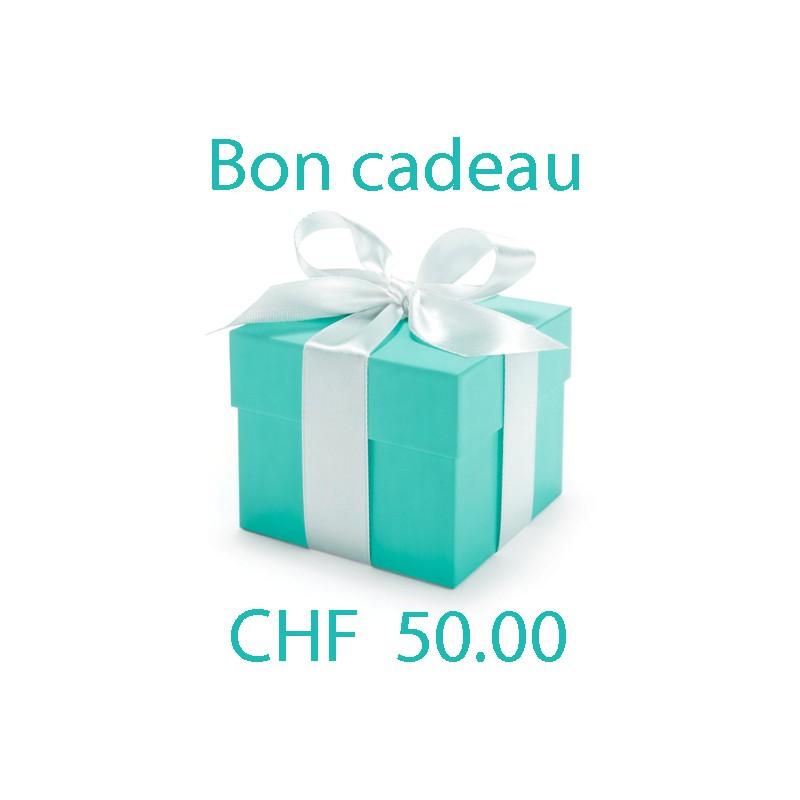 Bon cadeau valeur Frs. 50.00