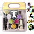 Glitter Ephemeral Tattoo Kit - Weihnachten Fun Set