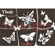 Mehrere Schablonen für ephemere Tattoos - Schmetterlinge