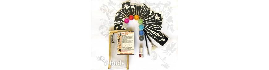 Kits de tatouages à paillettes