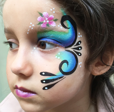 Maquillage fantaisie one stroke enfant face painting