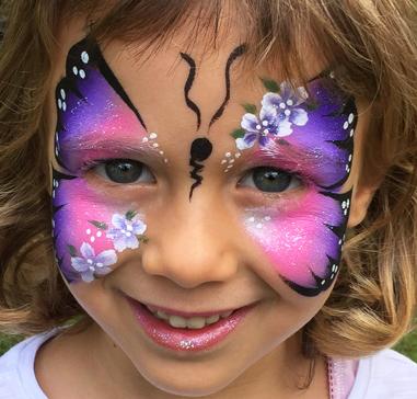 Maquillage fantaisie grimage pour enfant papillon